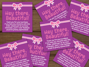Thank You For Your Purchase Labels Stickers Purple Pink Personalized 20 1000