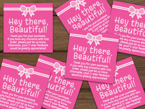 Thank You For Your Purchase Ebay Shipping Labels Stickers Hot Pink Personalized