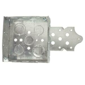 Steel City 1 gang 4 In New Work Pre galvanized Metal Square Electrical Box Of