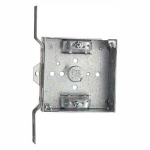 Steel City 2 gang 4 In Metal Square Electrical Box case Of 25