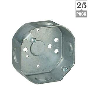 Steel City 1 gang 3 1 2 In New Work Metal Octagon Electrical Box case Of 25