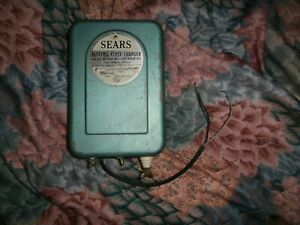 Vintage Sears Roebuck Electric 6 Volt Indoor Fence Charger Model No 436 77650