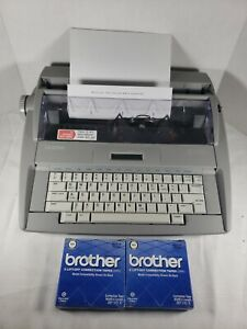 Brother Sx 4000 Daisy Wheel Portable Electronic Display Typewriter