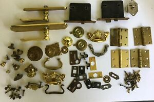 Mixed Lot Of Hardware Drawer Pulls Door Locks Handles And More