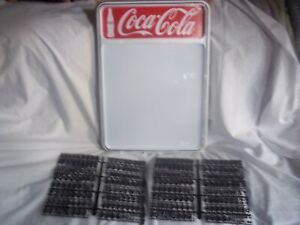 New! Coca-Cola Menu Board Sign w/2 sets of letters & numbers!.