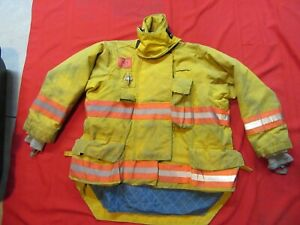 Morning Pride Firefighter Bunker Turnout Jacket 48 Chest 32 Sleeve Snap In Liner