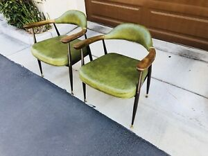 2 Mid Century Modern Arm Chairs By Lion Brand Made In Yugoslavia