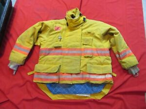 Morning Pride Firefighter Bunker Turnout Jacket 52 Chest 34 Sleeve Snap In Liner