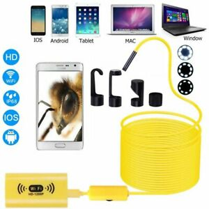 8led Wireless Endoscope Wifi Borescope Inspection Camera Ip68 For Iphone Android