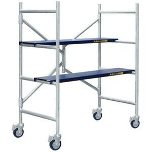 Aluminum 4 Ft x3 1 2 Ft X 1 3 4 Ft Scaffolding Kit With 600 Lb Load Capacity