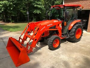 2018 Kubota Grand L4760 Hstc Hst 4x4 Cab Tractor W 3rd Function Rear Remotes