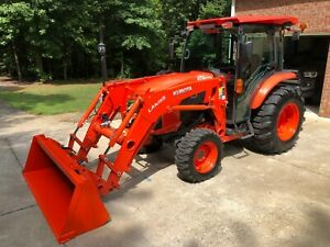 2018 Kubota Grand L4760 Hstc Hst 49hp 4x4 Cab Tractor 3rd Function Rear Remote