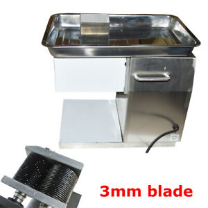 Commercial Meat Slicer With 3mm Blade Chimney Type Kitchen Machine Cutter