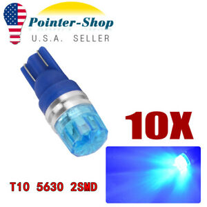 10x 8000k Blue T10 5630 Led Dome Map Interior Side Wedge Light Bulbs W5w 192 194