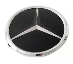 New Mercedes Base Plate Front Grill Emblem Modified Upgrade Amg Crystal Style