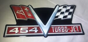 Chevrolet Chevy 454 Turbo Jet Embossed Metal Signs Man Cave Garage Cool