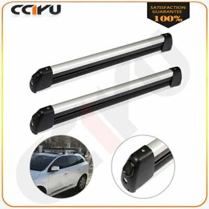Pair Unliversal Car Top Roof Rack Ski Carriers Mount For 2 Snowboard Or 4 Skis