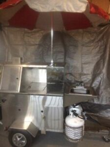 2 X 7 Hot Dog Food Vending Cart For Sale In Ontario