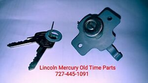 1956 1957 Nos Lincoln Mercury Locking Glove Box Lock Key Set Nib Bae 6406081 a