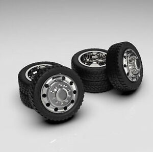 1 64 3d Printed alcoa Style Dually Setup Wheels And Low Profile Tires