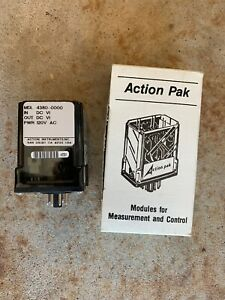 Action Pak Mdl 4380 0000 Signal Conditioner 120vac 50 60hz Open Box