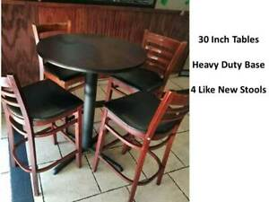 Bar Height Pub Tables And 4 Restaurant Stools