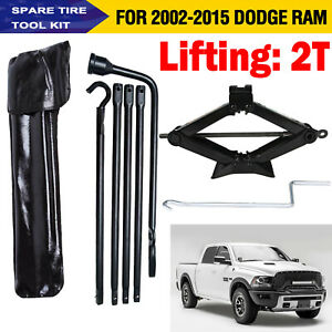 Tools Set For Dodge Ram 1500 02 15 Spare Tire Lug Wrench And 2 Ton Scissor Jack