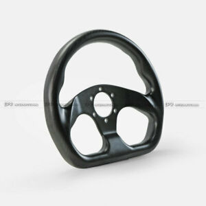 Matte Carbon Flat Type Racing Steering Wheel Cover Kit Momo 320mm Diameter Bolts