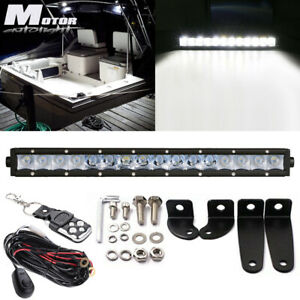 17inch Single Row Led Work Light Bar Driving For Marine Boat 4wd Atv Utv Ip67
