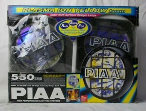 Piaa 550 Plasma Ion Yellow Beam Halogen 8 Driving Light Kit