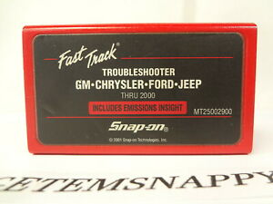 Snap On 2000 Domestic Troubleshooter Cartridge Mt2500 Mtg2500 Scanners