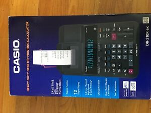 Casio Office Products Dr 210r Heavy duty Full sized Printing Calculator Black