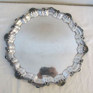 English Hallmarked Silver Plate Footed Platter