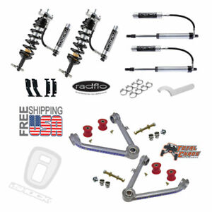 Radflo 2 5 Shocks W Res Total Chaos Mid Travel Chevy Silverado Gmc Sierra 07 18