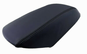 Fits 11 19 Ford Explorer Black Real Leather Center Console Lid Armrest Cover