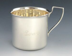 Shreve Crump Low Mid 20th Century Sterling Silver Baby Cup Engraved Evan