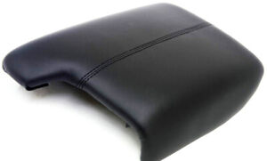 Fits 13 17 Honda Accord Black Real Leather Center Console Lid Armrest Cover