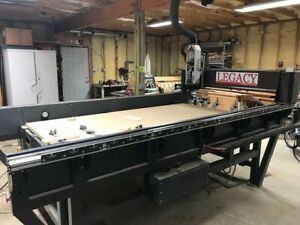 Woodworking Cnc Legacy Criterion 4x8 Bed Auto 6 Tool Change Three Years Old