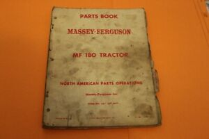 Vintage Massey Ferguson Parts Book Mf 180 Tractor Manual Operators