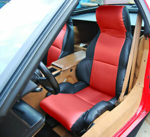 Chevy Corvette C4 Sport Type1 1984 1993 Black Red S Leather Custom Seat Cover