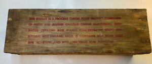 Vintage 2 Pound Windsor Wooden Cheese Box Pasteurized American Cheese Wisconsin
