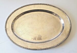 Reed Barton Antique Silver Plate 4020 Oval Platter 1907 Art Deco Pattern