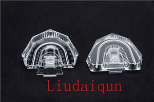 100pcs Disposable Plastic Dental Mold Base Denture Tray Lab Sectioned Kit Clear