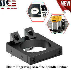 80mm Spindle Fixture Engraver Spindle Mount Kit For Cnc Router Engraver Machine