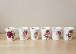 David Michael China Tea Coffee Cups Lot Of 6 Staffordshire