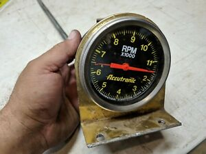 Vintage Accutronic Mechanical Tach 11 500 Rpm With Modified Mount