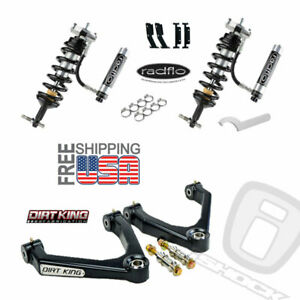 Radflo Shocks Dirt King Mid Travel Chevy Silverado Gmc Sierra 07 18