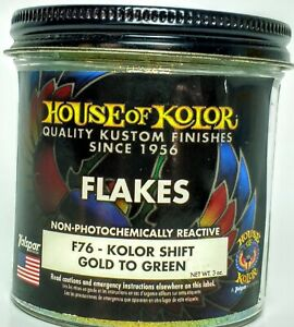 3 Oz Gold To Green Color Shift Flake House Of Kolor Fine Size 1 125th Hex F76