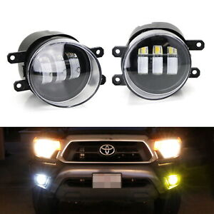 White Yellow Dual Color 20w High Power Led Fog Light Kit For Lexus Toyota Scion