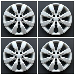 New Wheel Covers Hubcaps Fits 2014 2018 Toyota Corolla 16 Silver Set Of Four